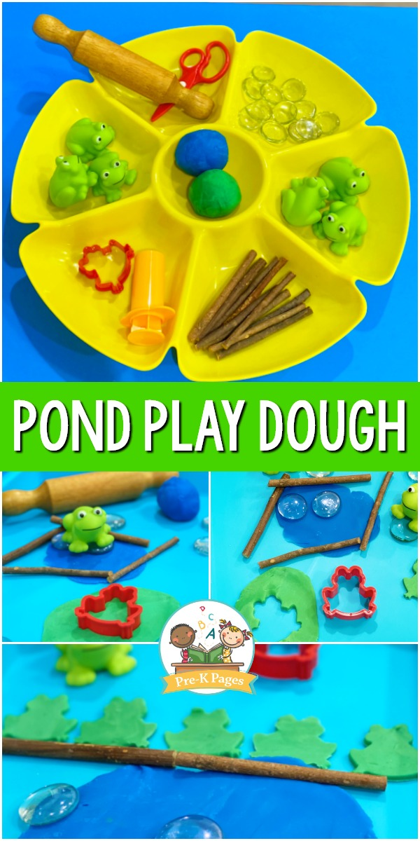 Pond Theme Play Dough Tray