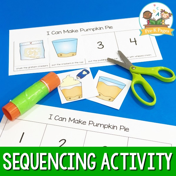 Pumpkin Pie Sequencing Activity