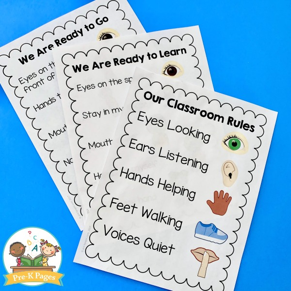 Rules Poster for Preschool