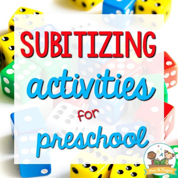 Subitizing Activities for Preschool