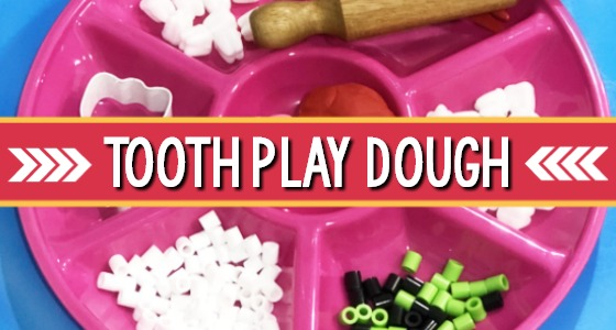Teeth Play Dough Tray Activity for Preschool