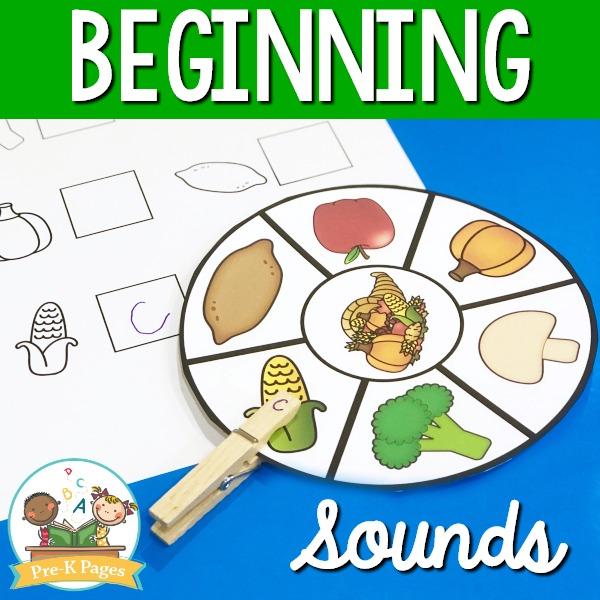 Thanksgiving Beginning Sounds Activity
