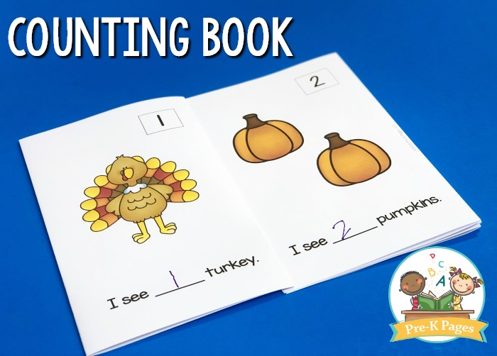 Thanksgiving Counting Book for Preschool