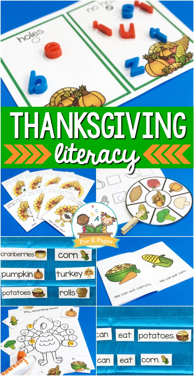 Thanksgiving Literacy Activities for Preschool