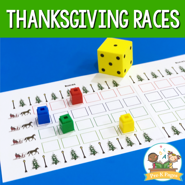Thanksgiving Races Game for Preschool