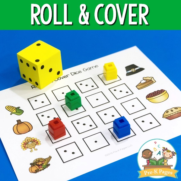 Thanksgiving Roll and Cover Game