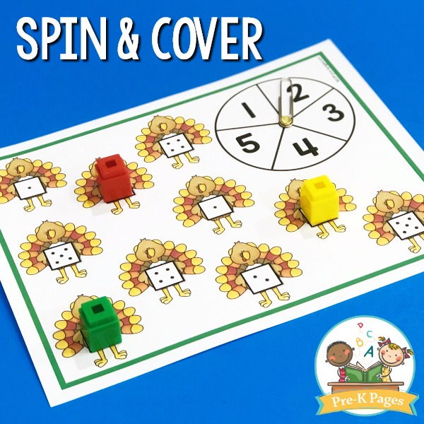 Thanksgiving Spin and Cover Activity