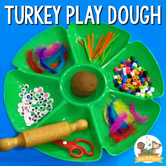 Thanksgiving Turkey Play Dough Tray