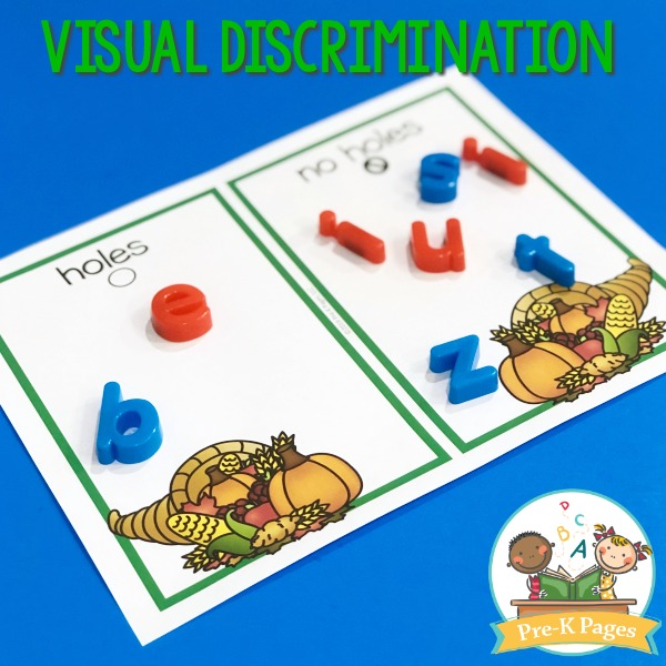 Thanksgiving Visual Discrimination