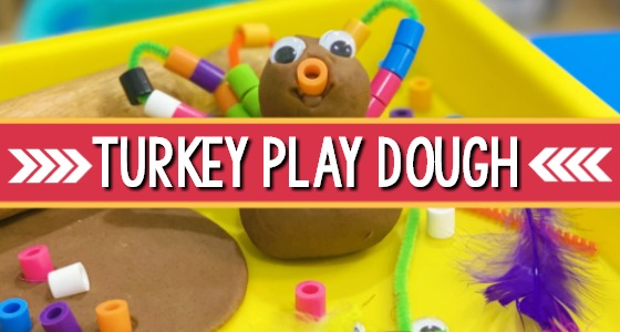 Turkey Play Dough for Thanksgiving