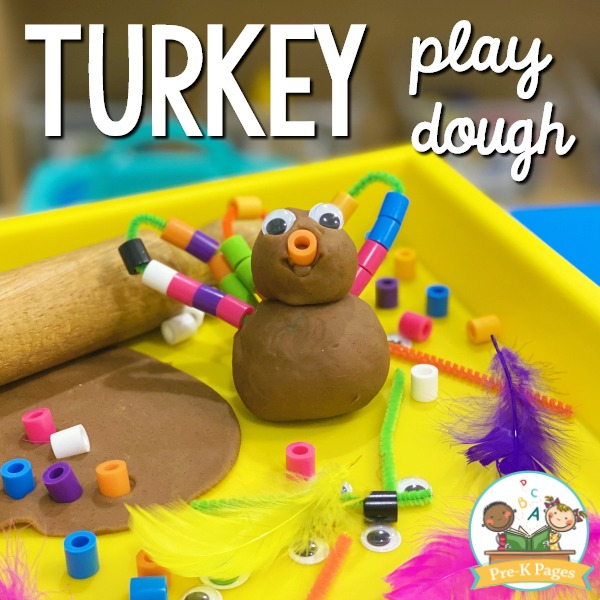 Turkey Play Dough Activity