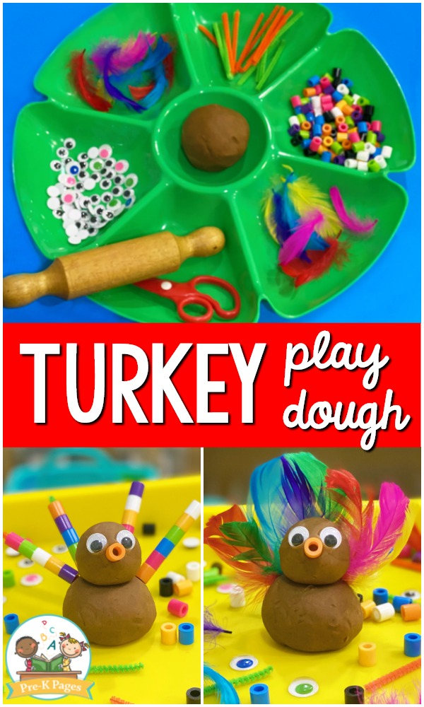 Turkey Play Dough Tray