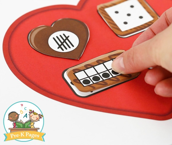 Valentine Number Sense Activity