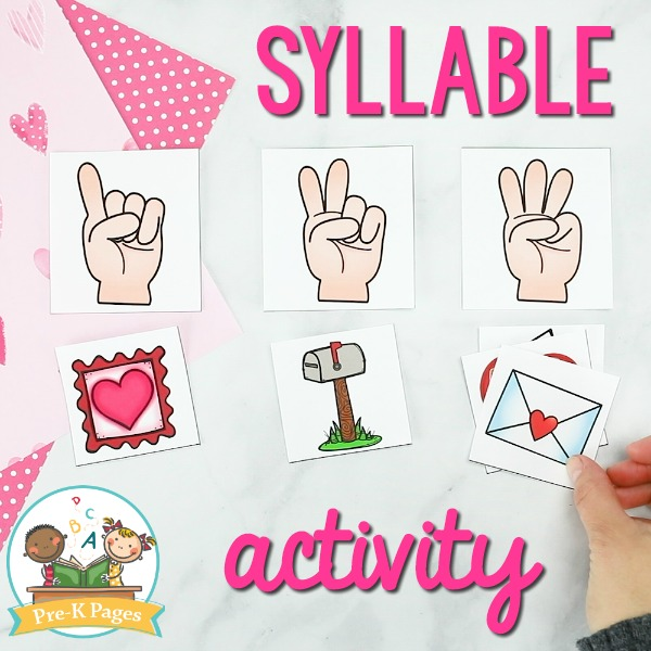 Valentine Syllable Game for Kids