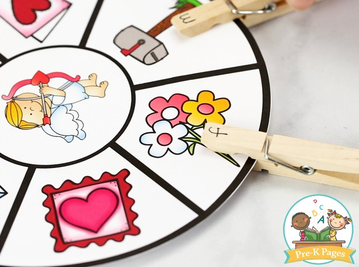 Valentine's Day Beginning Sounds Activity for Pre-K