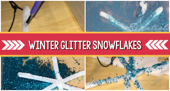 Winter Glitter Snowflakes