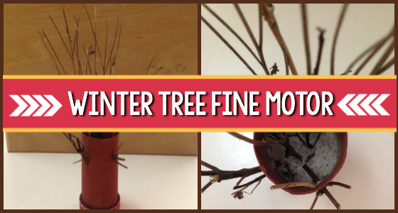 Winter Tree Craft For Fine Motor Exploration