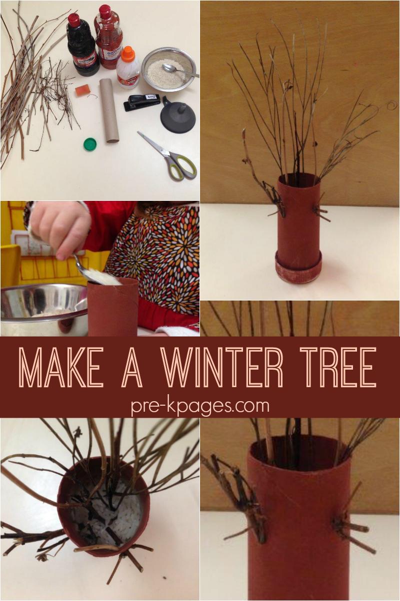 winter tree fine motor for preschool