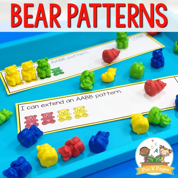 Bear Pattern Activity for Preschool