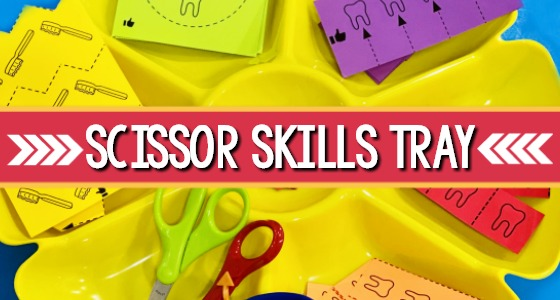 Scissor Cutting Skills Activity Tray