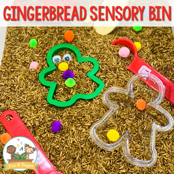 Gingerbread Man Sensory Play