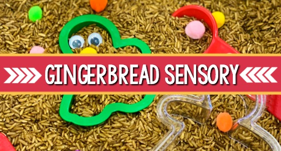 Gingerbread Sensory Bin for Preschoolers