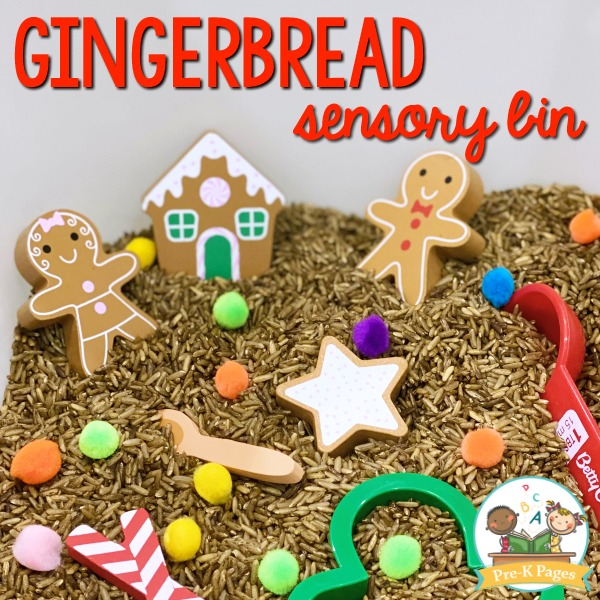 Gingerbread Theme Sensory Bin