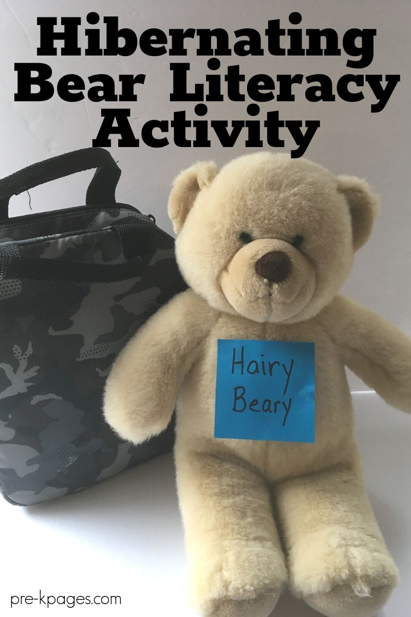 Hibernating Bear Literacy Activity for preschool