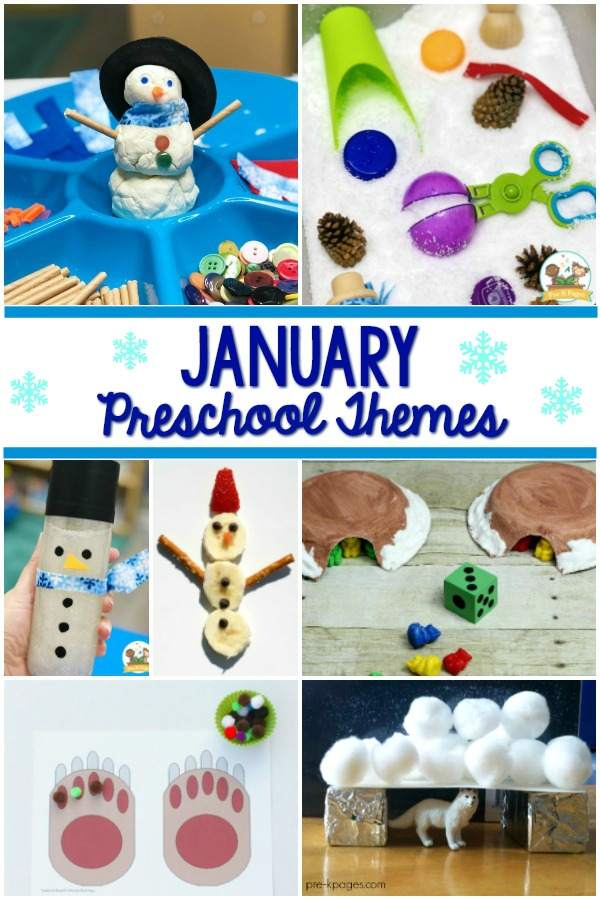 January Preschool Themes curriculum