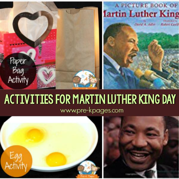 MLK activities for pre-k