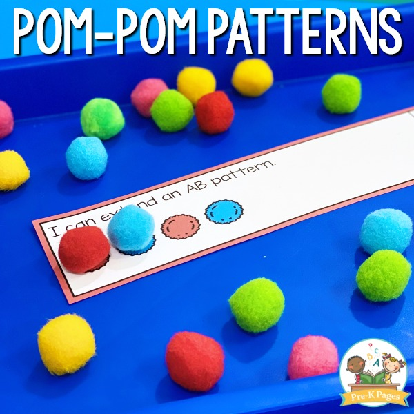 Pom Pom Patterning in Preschool