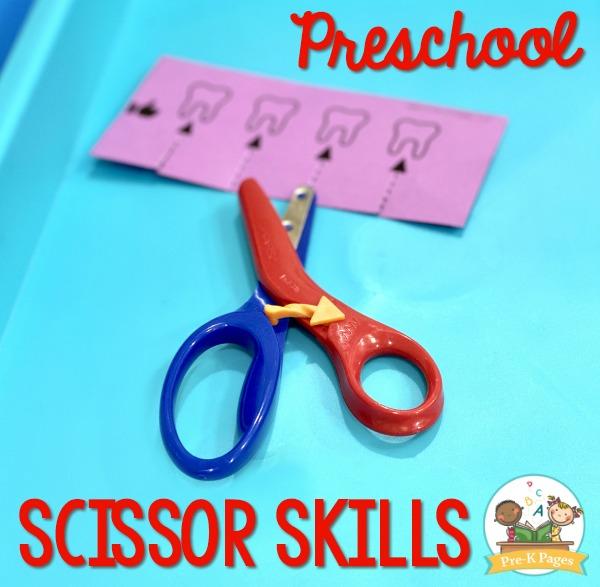 Preschool Scissor Skills Cutting Practice