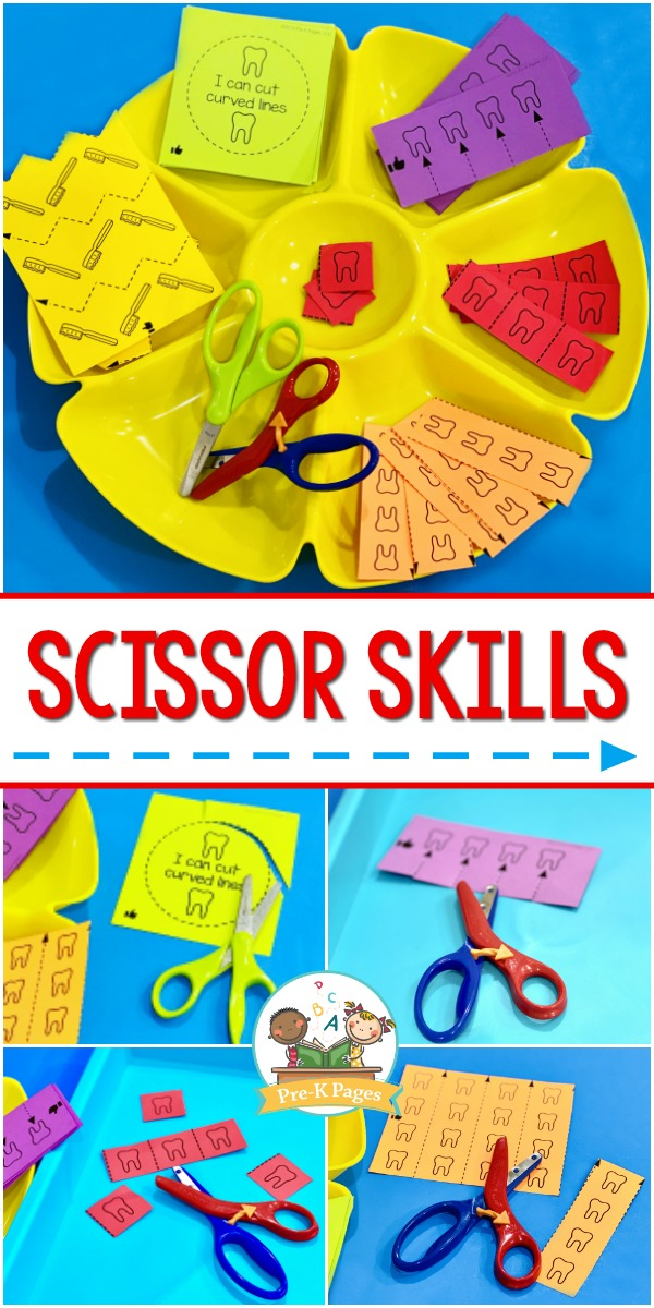 Scissor Skills Printable Worksheets for Preschool