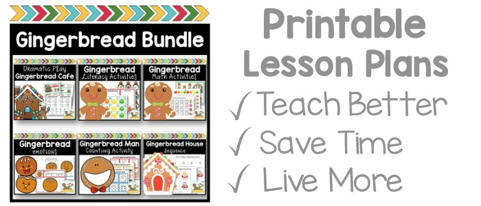 gingerbread Lesson Plans for Preschool and Pre-K