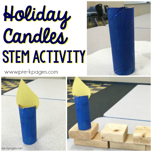 hanukkah holiday candles STEM Pre-K