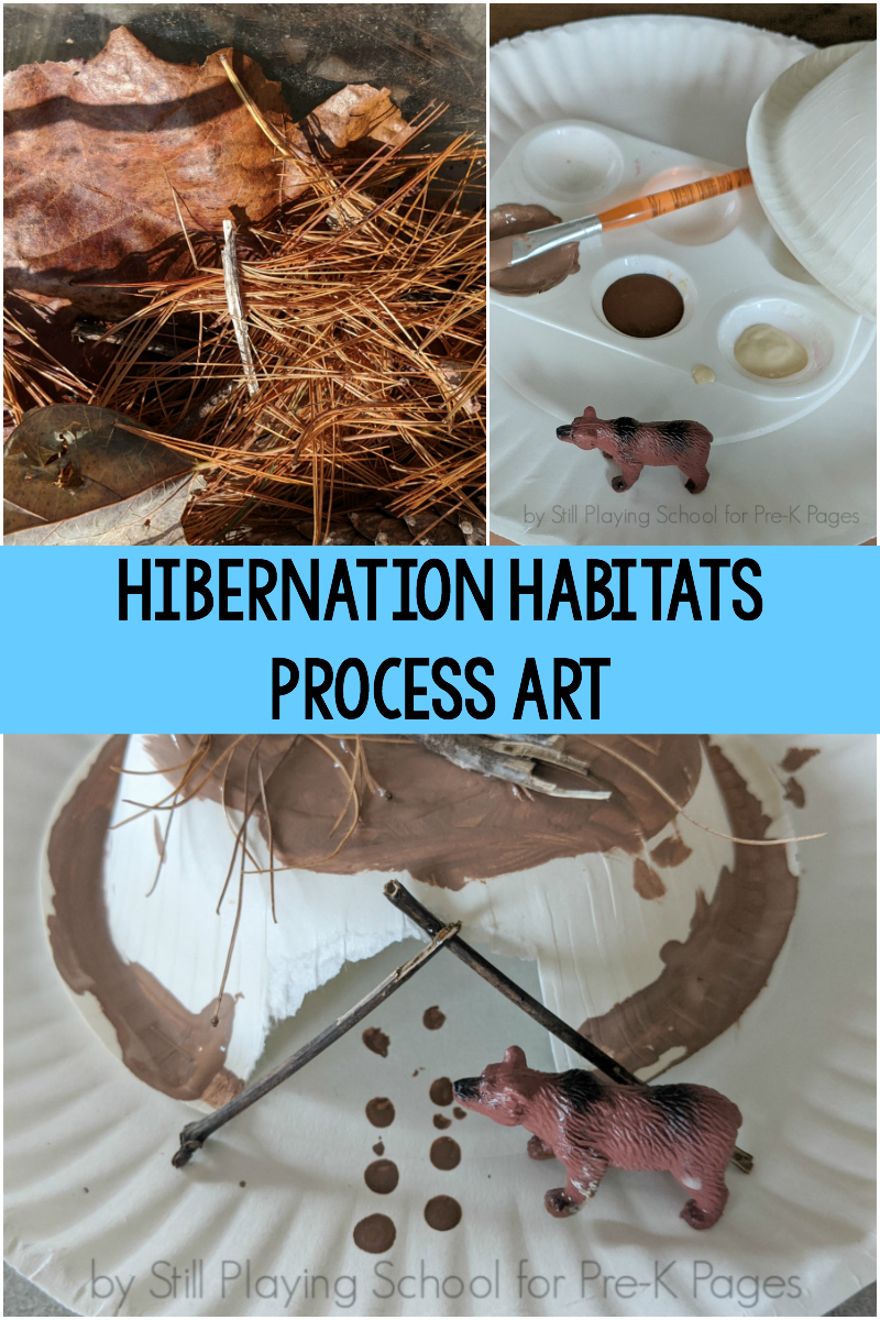 hibernation process art for preschool