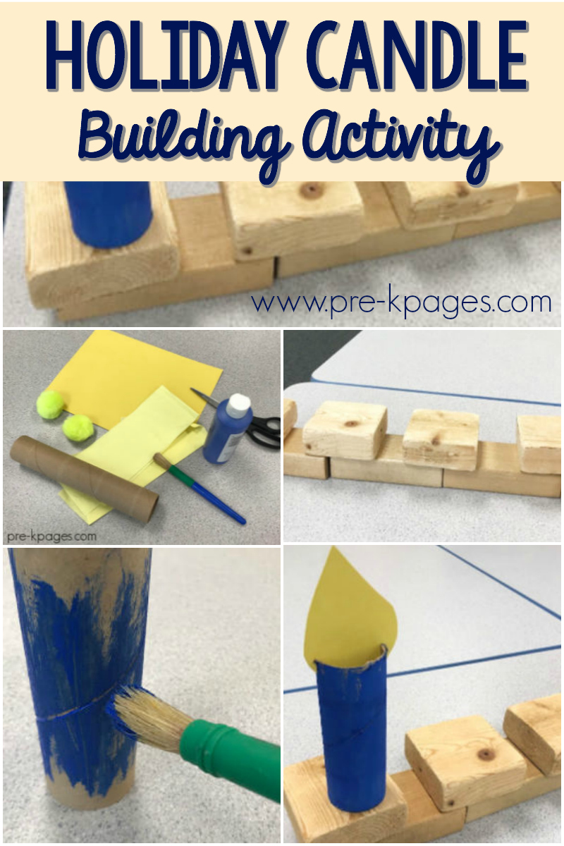 holiday candle building for preschool