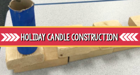 holiday candle construction activity preschool