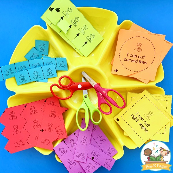 Community Helpers Printable Cutting Practice Activity