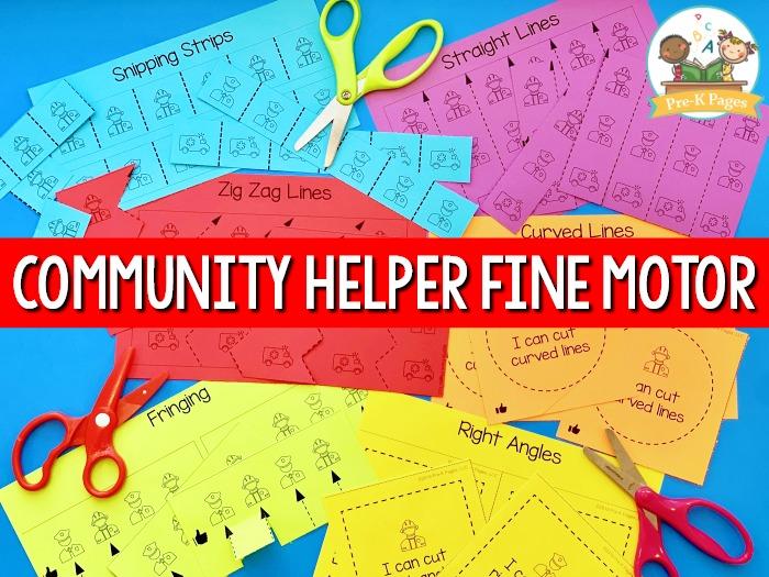 Community Helper Fine Motor