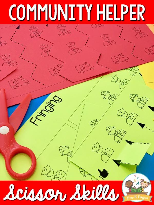 Community Helper Scissor Skills