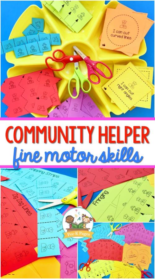 Community Helpers Theme Fine Motor