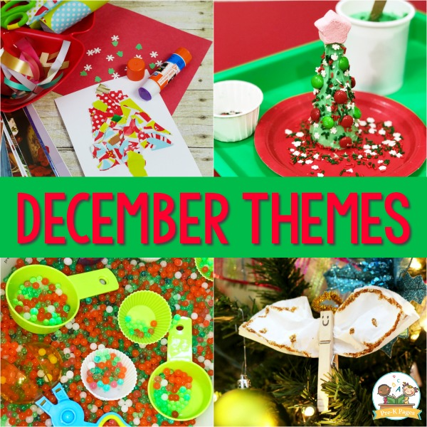 December Monthly Preschool Themes