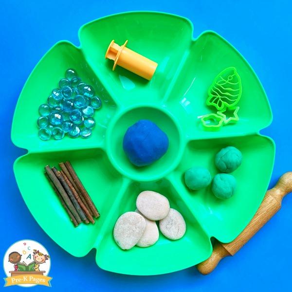Earth Day Play Dough Tray
