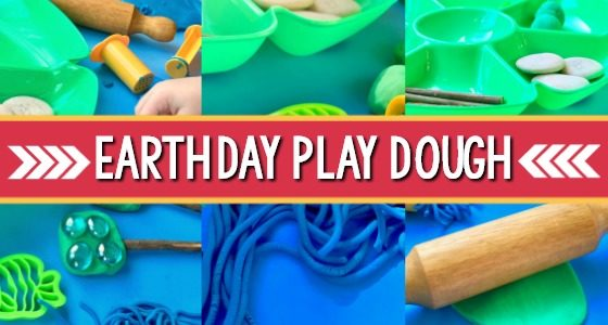 Earth Day Theme Play Dough for Preschool