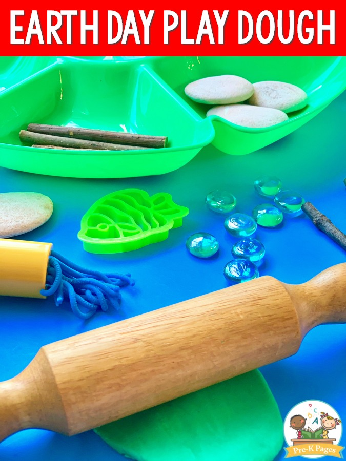 Earth Day Theme Play Dough Activity
