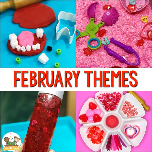 February Monthly Preschool Themes