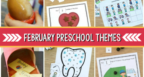 February Preschool Themes curriculum
