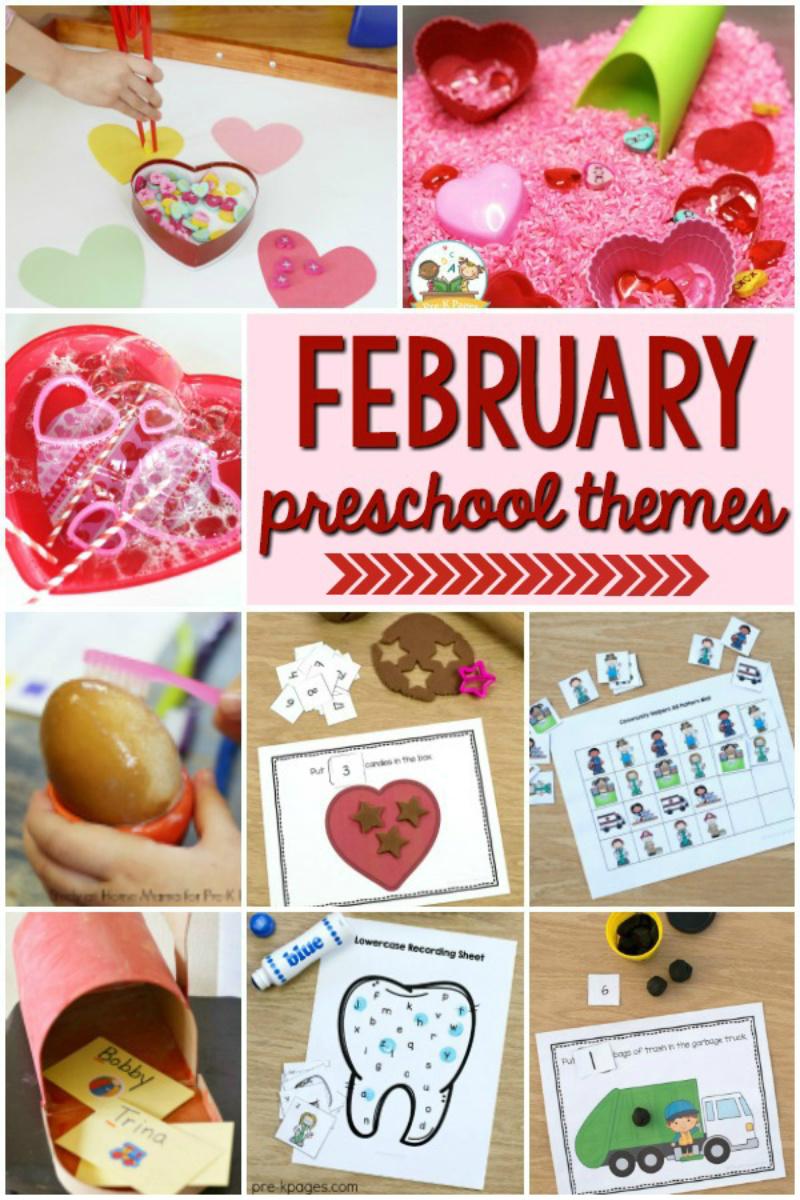 February Preschool Themes for preschool