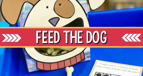 Feed the Dog Counting Activity